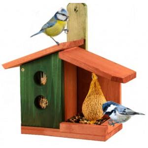Kombinované krmítko pro venkovní ptactvo